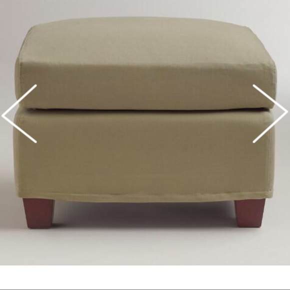 Awesome Nwt World Market Sage Luxe Ottoman Cover Pabps2019 Chair Design Images Pabps2019Com